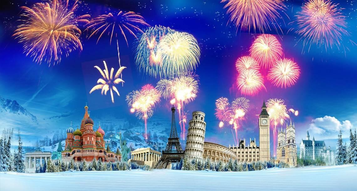 Ano Novo em países gelados