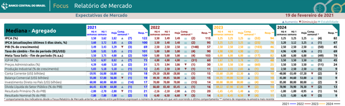 Boletim Focus - Previsão da cotação do dólar e dos principais indicadores de acordo com pesquisa do BCB de 19-02-2021 - Blog Meu Câmbio